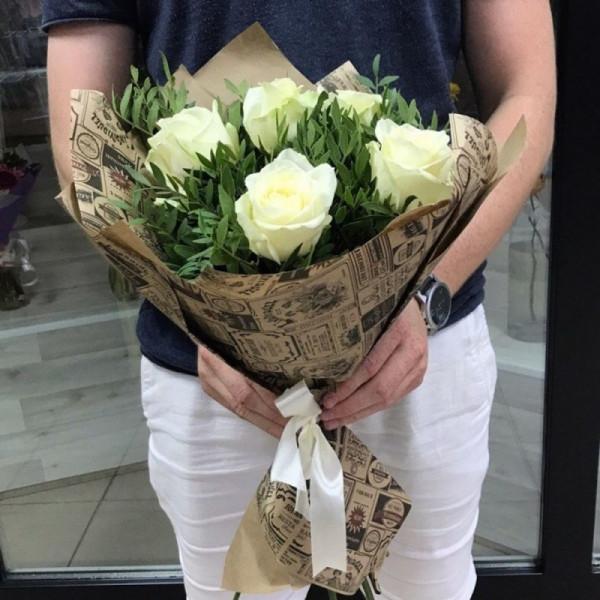 Букет №5 из белых роз